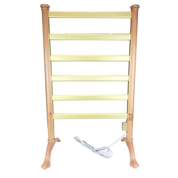 Shop Wood Frame Freestanding Towel Warmer Drying Rack Free