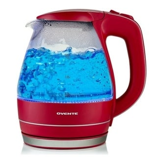 Ovente KG83M Maroon 1.5-liter Glass Electric Kettle