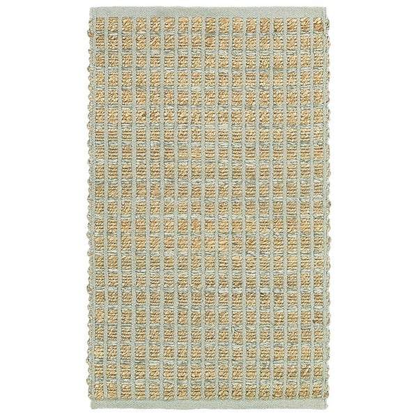LR Home Natural Fiber Grey Striped Area Rug ( 8' x 10' )