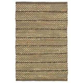 LNR Home Natural Fiber Brown Striped Area Rug (5'3 x 7'5)