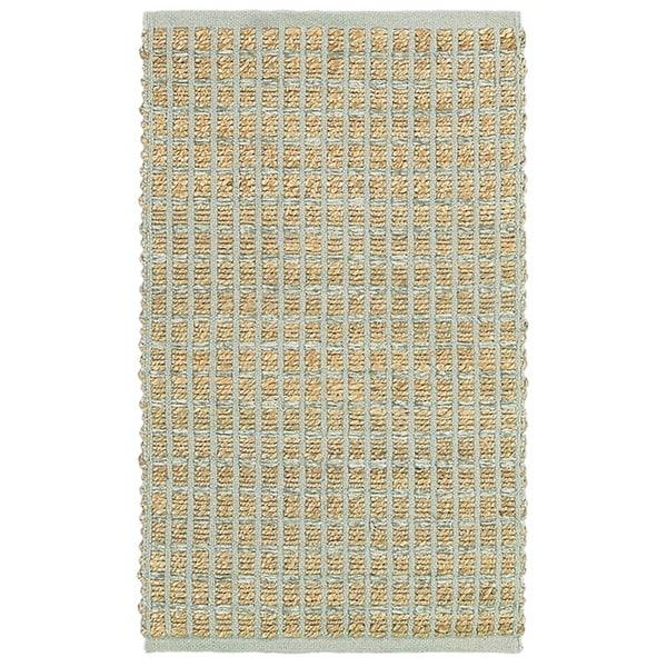 "LR Home Natural Fiber Grey Striped Area Rug ( 5' x 7'9 ) - 5'2"" x 7'9"""