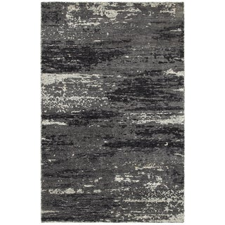 LNR Home Nisha Multi Grey Abstract Rug (10' x 14')