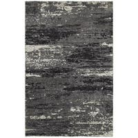 LR Home Nisha Multi Grey Abstract Rug - 10' x 14'