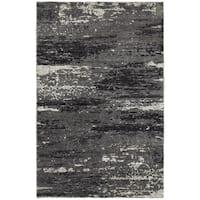 LR Home Nisha Multi Grey Abstract Rug (10' x 14') - 10' x 14'