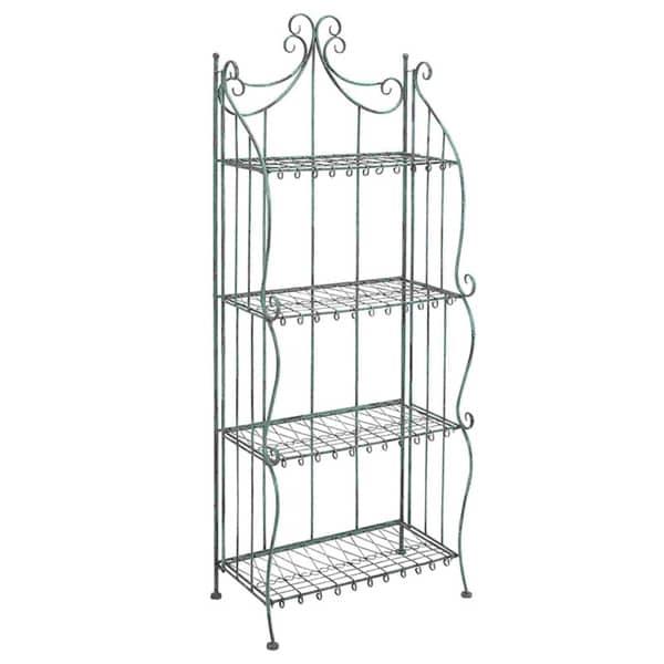 Black Metal 4-shelf Bakers Rack