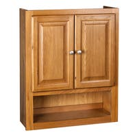 Raised Panel Oak Bathroom Cabinet