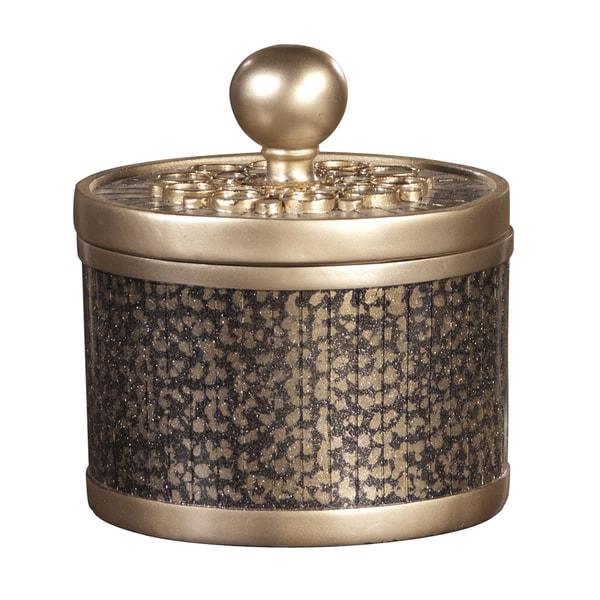 Decorative Round Goldtone Box