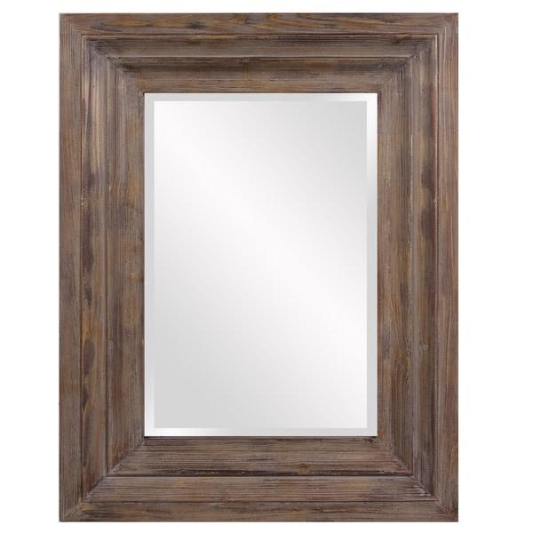 Abram Wood Retangle Frame Mirror