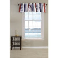 Greenland Home Fashions Nautical Stripe Quilted Window Valance
