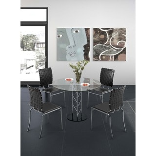 Chardonnay Clear Glass Dining Table