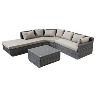 Captiva Espresso Sectional Set