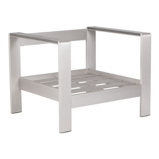 Cosmopolitan Brushed Aluminum Arm Chair Frame