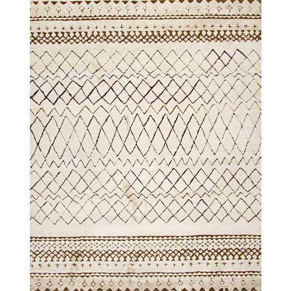Shop ABC Accent Beni Ourain Moroccan Beige Wool Area Rug