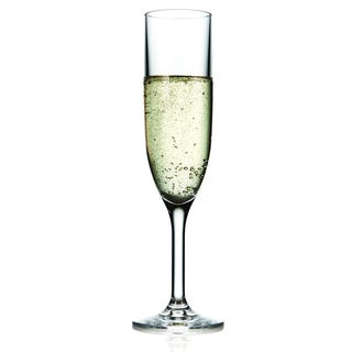 Drinique Champagne Flute 6-ounce (Set of 4) made with Tritan copolyester