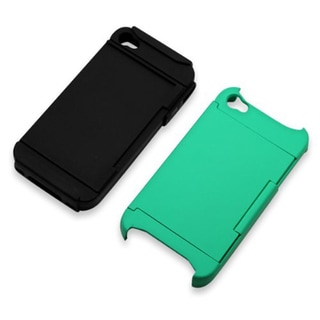 Hybrid Dual-layer Apple iPhone 4/ 4S Case with Credit Card Holder