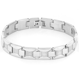 Stainless Steel Link Chain Hidden Clasp Bracelet