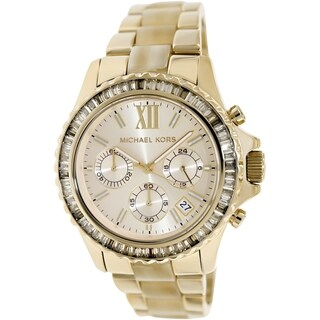 Michael Kors Women's MK5874 Chronograph Everest Horn Acetate Watch