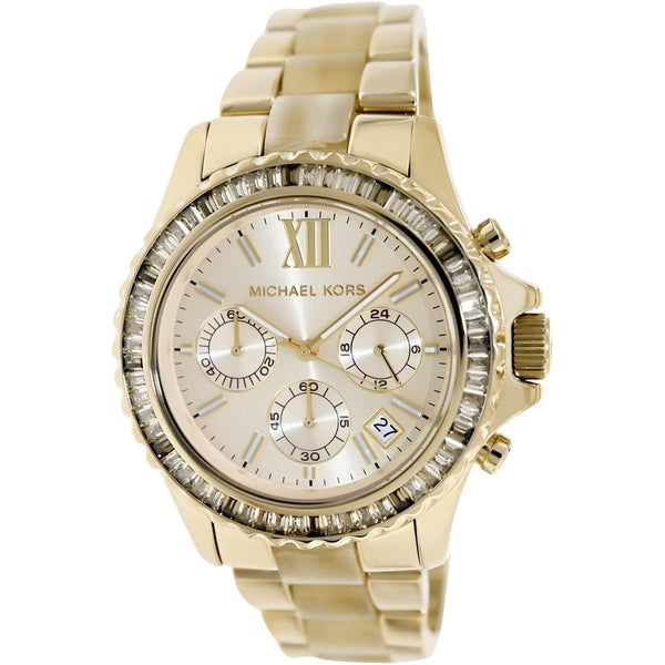 Michael Kors Women's MK5874 Chronograph Everest Horn Acetate Watch. Opens flyout.