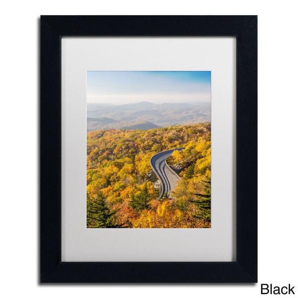 Pierre Leclerc 'Blue Ridge Parkway' Framed Matted Art