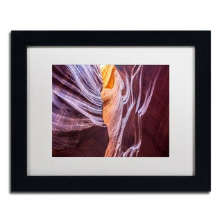 Pierre Leclerc 'Canyon Abstract' Framed Matted Art