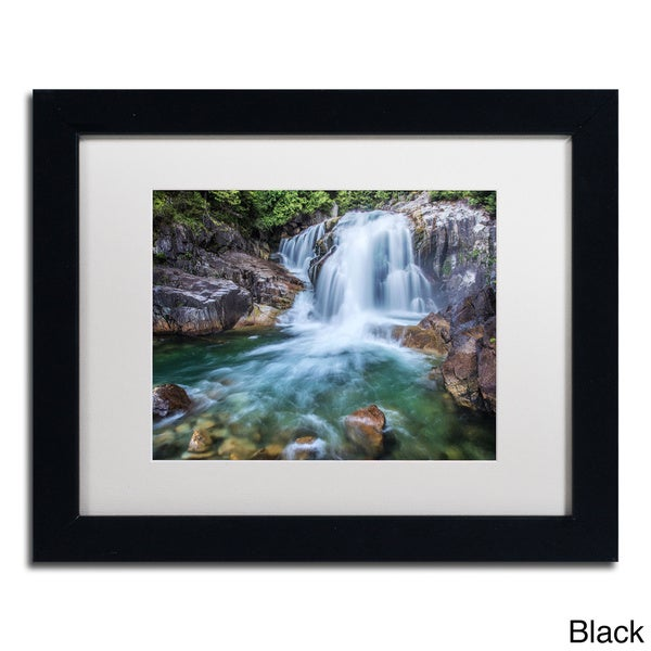 Pierre Leclerc 'Golden Ears Falls' Framed Matted Art