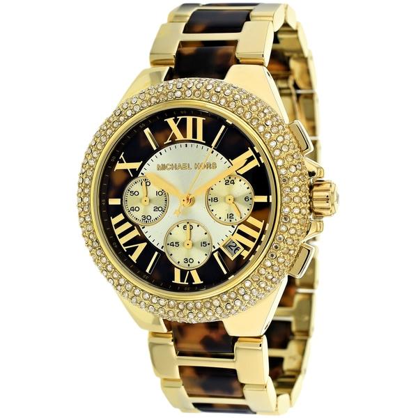f7a4620b5e5b Shop Michael Kors Women's MK5901 'Camille' Two-tone Tortoise Watch ...