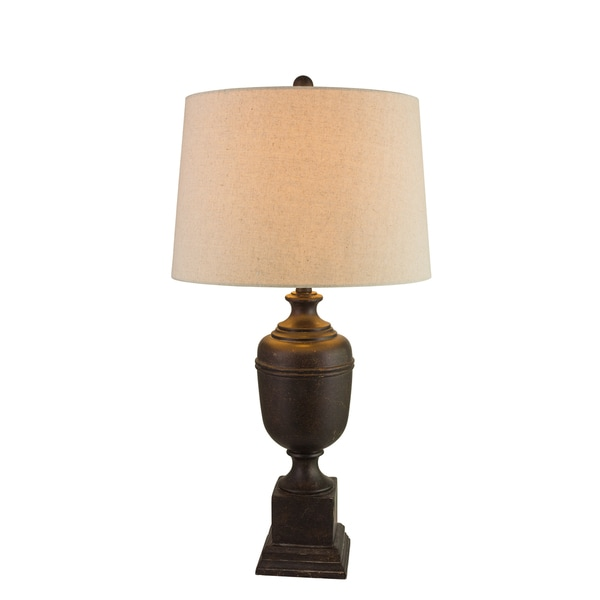 Fangio Lightings #6186B 32-inch Resin Table Lamp in Bronze Finish