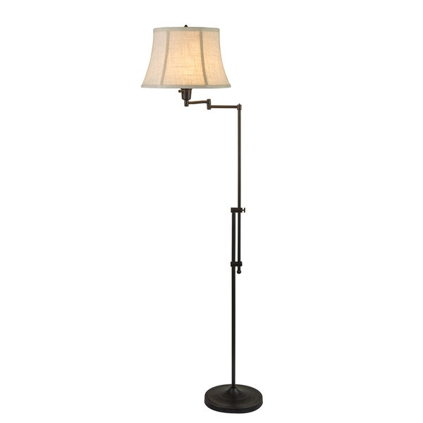 Fangio Lightings #1419MB 44.5-55-inch Adjustable Swing Arm Metal Floor Lamp in