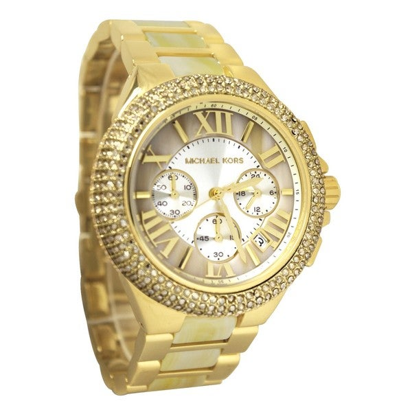 Michael Kors Women's MK5902 'Camille' Crystal Bezel Chronograph Watch. Opens flyout.
