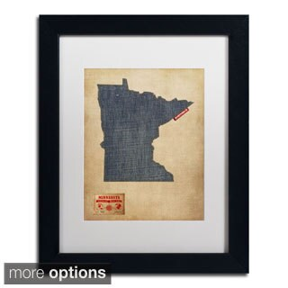 Michael Tompsett 'Minnesota Map Denim Jeans Style' Matted
