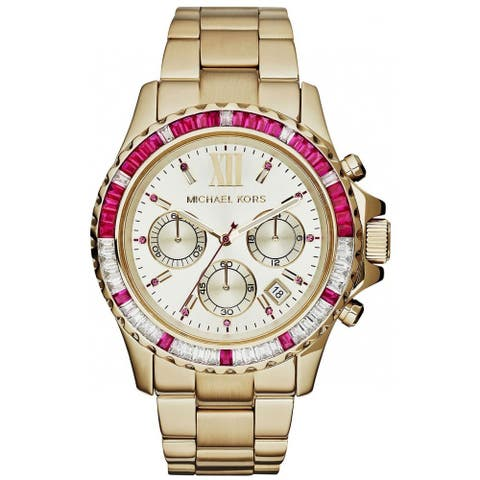 Michael Kors Women's MK5871 'Everest' Goldtone Chronograph Watch