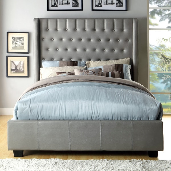 Furniture Of America Carmella Wingback Low Profile Bed