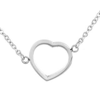 Elya Stainless Steel Heart Pendant Necklace