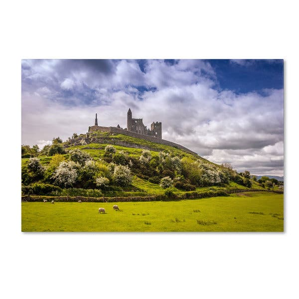 Shop Black Friday Deals On Pierre Leclerc Rock Of Cashel Ireland Canvas Art Overstock 9188758