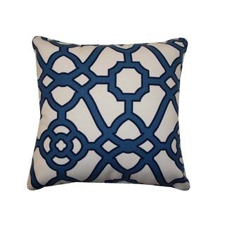 Octagon Blue Throw Pillow