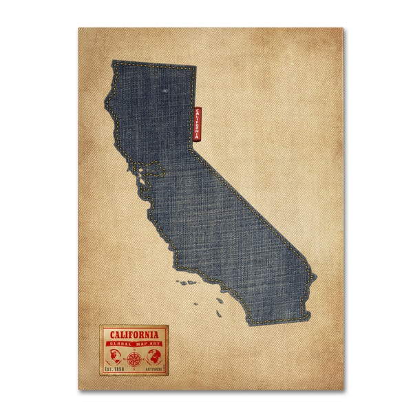 California As An Island Map For Sale on