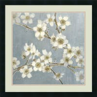 Framed Art Print 'Silver Blossoms I' by Elise Remender 24 x 24-inch