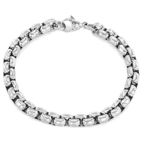 Women's Stainless Steel Rolo Bracelet - Silver
