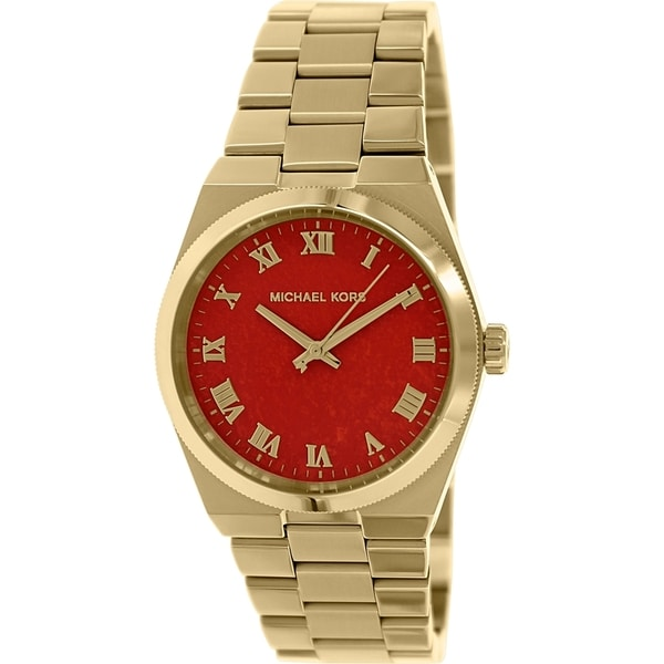 bc6064d06c67 Shop Michael Kors Women s  Channing  Goldtone Watch - Free Shipping Today -  Overstock - 9188894