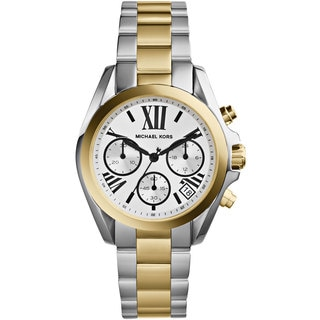 Michael Kors Women's MK5912 Mini Bradshaw Chronograph Two Tone Watch