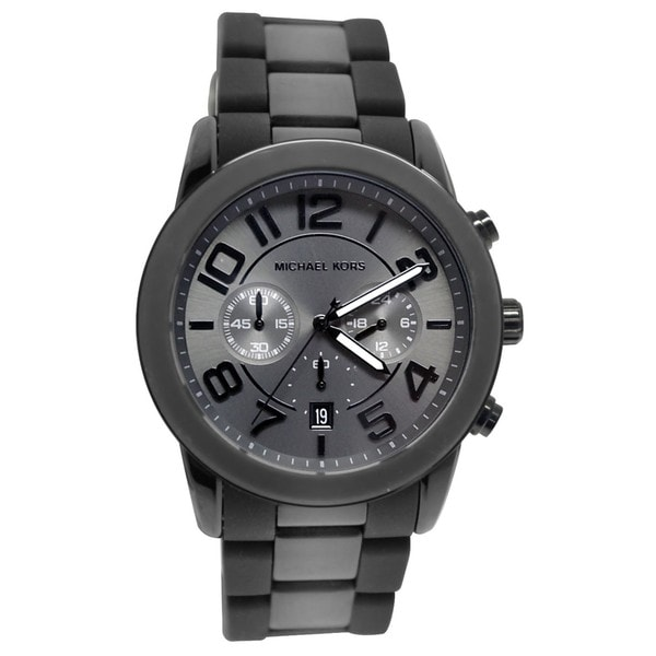 0a2235c87747 Shop Michael Kors Men s MK8322  Mercer  Black Chronograph Watch ...
