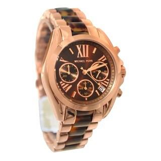 Michael Kors Women's MK5944 Bradshaw Rose Goldtone Chronograph Watch