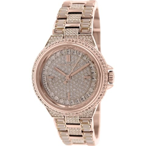 Michael Kors Women's MK5948 Camille Rose Goldtone Crystals Glitz Dial Band Watch
