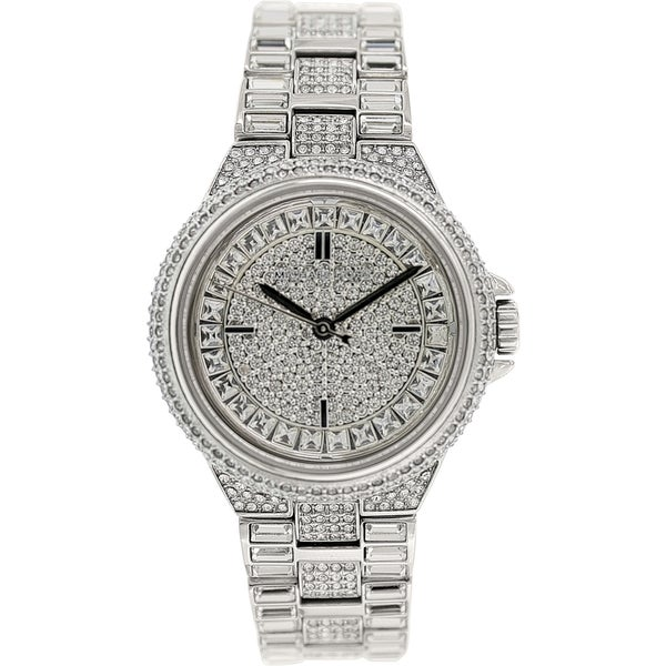 e583920058c6 Shop Michael Kors Women s Camille Silvertone Crystal Pave Watch - Free  Shipping Today - Overstock - 9188937
