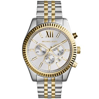 Michael Kors Men's MK8344 Chronograph Silver-Tone Dial Two-Tone Stainless Steel Bracelet Watch
