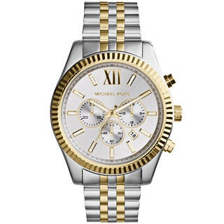 Michael Kors Men's Chronograph Silver-Tone Dial Two-Tone Stainless Steel Bracelet Watch