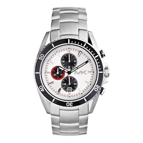 Michael Kors Men's MK8339 'Lansing' Chronograph Silvertone Watch