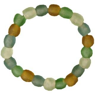 Handmade Recycled Glass Bead Bracelet (Ghana)