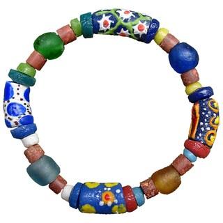 Handmade Recycled Glass Sister Bracelet (Ghana)