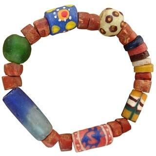 Handmade Recycled Glass Eco Bracelet (Ghana)